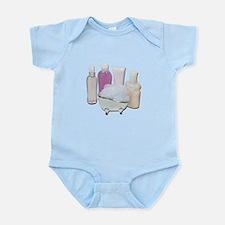 Lotion Cream Scrubber Tub Infant Bodysuit