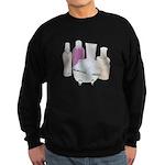 Lotion Cream Scrubber Tub Sweatshirt (dark)