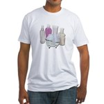 Lotion Cream Scrubber Tub Fitted T-Shirt