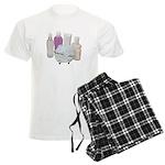 Lotion Cream Scrubber Tub Men's Light Pajamas