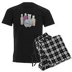 Lotion Cream Scrubber Tub Men's Dark Pajamas