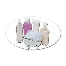 Lotion Cream Scrubber Tub 22x14 Oval Wall Peel