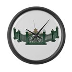 Metal Curved Fence Large Wall Clock