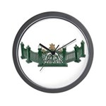 Metal Curved Fence Wall Clock