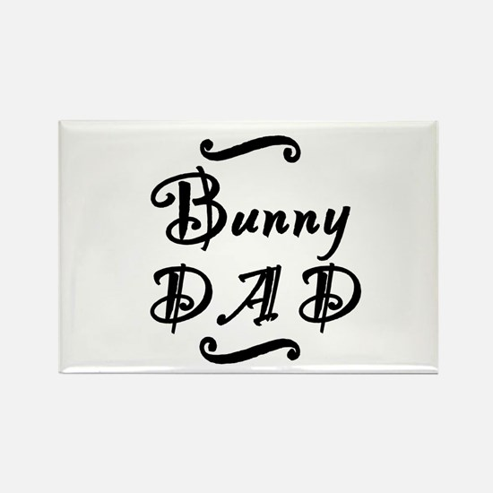 Bunny DAD Rectangle Magnet