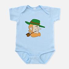 Leprechaun Smoking Pipe Infant Bodysuit