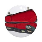 Music Case Hat Full Money Ornament (Round)