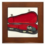 Music Case Hat Full Money Framed Tile
