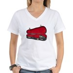 Music Case Hat Full Money Women's V-Neck T-Shirt