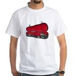 Music Case Hat Full Money White T-Shirt