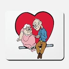 Old Couple Valentine Mousepad