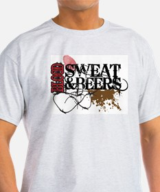 Funny Mud sweat and beers T-Shirt