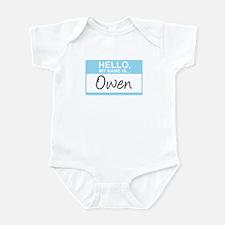Hello, My Name is Owen - Infant Bodysuit