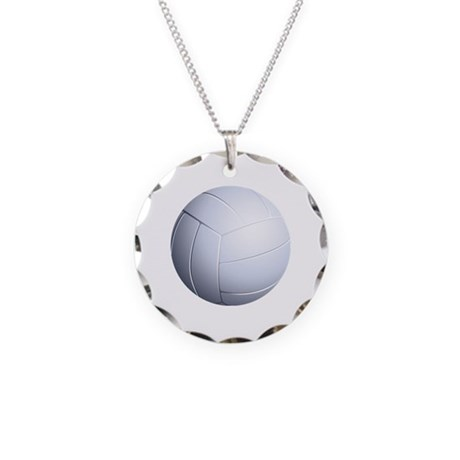 Volleyball Necklace Circle Charm