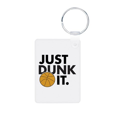 JUST DUNK IT. Aluminum Photo Keychain