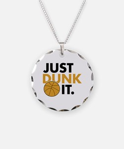 JUST DUNK IT. Necklace Circle Charm