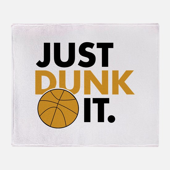 JUST DUNK IT. Throw Blanket