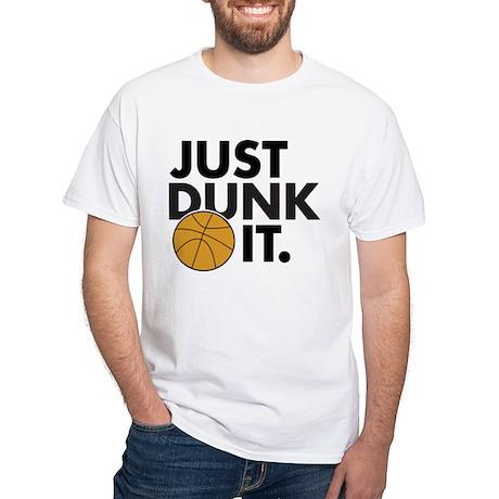 JUST DUNK IT. White T-Shirt