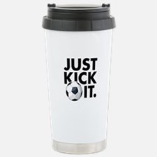 JUST KICK IT. Stainless Steel Travel Mug