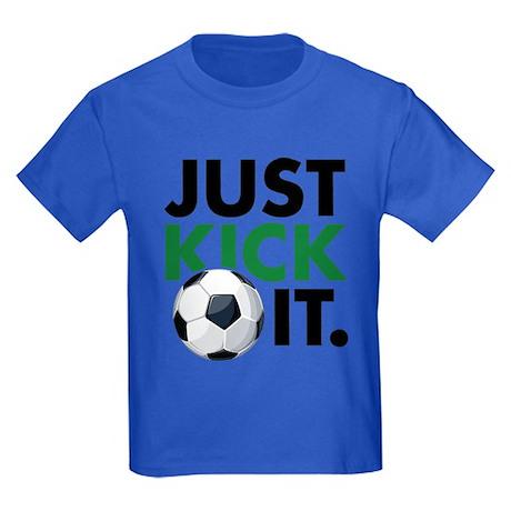 JUST KICK IT. Kids Dark T-Shirt