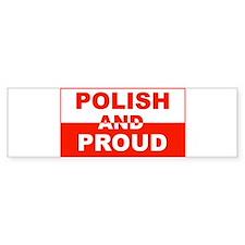 Polish and Proud-II Bumper Bumper Sticker