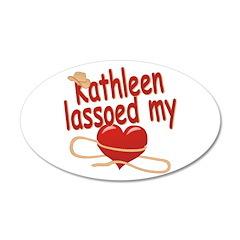 Kathleen Lassoed My Heart 38.5 x 24.5 Oval Wall Pe
