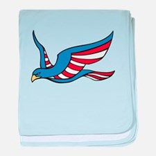 Red White and Blue Eagle baby blanket