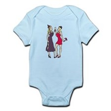 New Year's Party Girls Infant Bodysuit