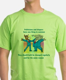 Politician and Diapers T-Shirt