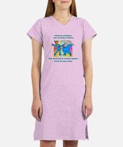 Politician and Diapers Women's Nightshirt