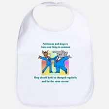 Politician and Diapers Bib