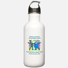 Politician and Diapers Water Bottle