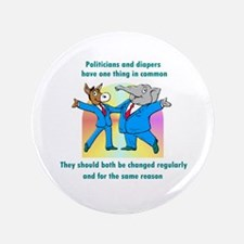 """Politician and Diapers 3.5"""" Button"""