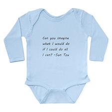 Cute Sun tzu Long Sleeve Infant Bodysuit