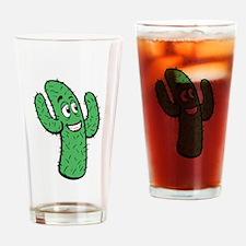 Cartoon Cactus Drinking Glass
