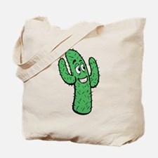 Cartoon Cactus Tote Bag