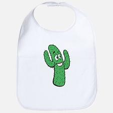 Cartoon Cactus Bib