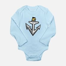 Boat Anchor Long Sleeve Infant Bodysuit