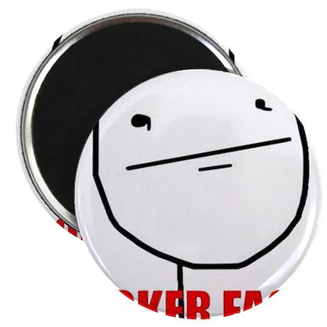Poker Face Magnet
