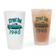 1940 Ford Hot Rod Jade Drinking Glass