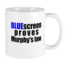 Bluescreen Murphys law Mug