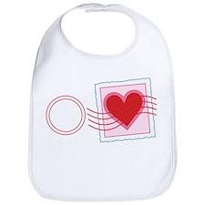 Love Letter Stamp Bib