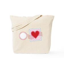 Love Letter Stamp Tote Bag