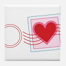 Love Letter Stamp Tile Coaster