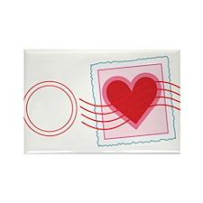 Love Letter Stamp Rectangle Magnet