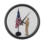 Pledge to American Flag Large Wall Clock