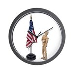 Pledge to American Flag Wall Clock