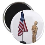 Pledge to American Flag Magnet