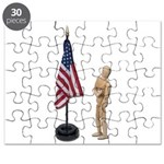 Pledge to American Flag Puzzle