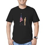Pledge to American Flag Men's Fitted T-Shirt (dark